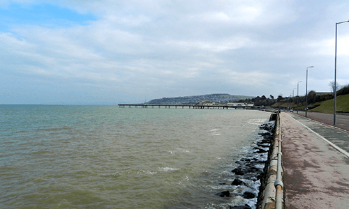A view of the Abergele coast